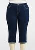 Plus Size Cropped Mirrored Stud Jeans alternate view