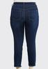 Plus Size Distressed Fringe Hem Jeans alternate view