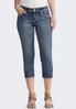 Cropped Fleur De Lis Pocket Jeans alternate view