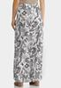 Plus Size Floral Tie Waist Maxi Skirt alternate view
