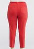 Plus Size Red Skinny Ankle Jeans alternate view