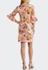 Plus Size Shell Pink Floral Dress alternate view