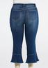 Plus Size Cropped Ruffle Jeans alternate view