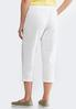 Cropped White French Terry Pants alternate view