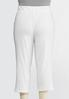 Plus Size Cropped White French Terry Pants alternate view