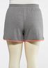 Plus Size French Terry Colorblock Shorts alternate view
