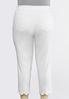 Plus Size Cropped Eyelet Scalloped Jeans alternate view