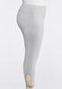 Plus Size Cropped Knotted Cutout Leggings alternate view