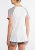 Plus Size Sporty Coral Gray Tee alternate view