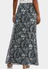 Puff Floral Paisley Maxi Skirt alternate view