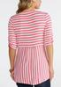 Striped Ruched Sleeve Tee alternate view