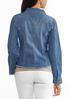 Plus Size Fringe Denim Shirt Jacket alternate view