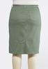 Plus Size Colored Denim Skirt alternate view