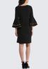 Plus Size Contrast Flutter Sleeve Sheath Dress alternate view