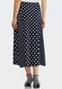 Plus Size Mixed Dot Midi Skirt alternate view