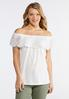 Floral Lace Off The Shoulder Top alternate view