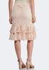 Ruffled Lace Midi Skirt alternate view