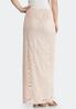 Plus Size Pink Lace Maxi Skirt alternate view