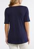 Plus Size Criss Cross Neck Solid Tee alternate view