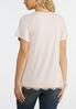 Plus Size Scalloped Lace Trim Tee alternate view