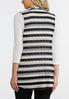 Plus Size Neutral Stripe Vest alternate view