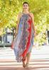 Petite Medallion Print Flyaway Maxi Dress alternate view