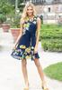 Tie Waist Floral Navy Dress alternate view
