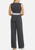 Petite Navy Dot Print Jumpsuit alternate view