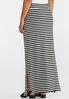 Plus Size Mixed Stripe Maxi Skirt alternate view