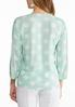 Plus Size Lace And Polka Dot Top alternate view