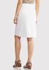 Plus Size Tie Belt White Denim Skirt alternate view