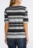 Dotted Stripe Scoop Neck Top alternate view