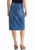 Plus Size Split Front Denim Skirt alternate view