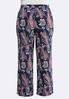 Plus Navy Paisley Palazzo Pants alternate view