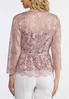 Plus Size Pink Lace Cardigan alternate view