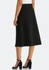 Plus Size Textured A- Line Skirt alternate view
