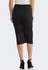 Plus Size Solid Scuba Pencil Skirt alternate view