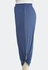Plus Size Tie Hem Cropped Pants alternate view