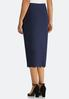 Plus Size Scalloped Hem Pencil Skirt alternate view