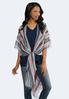 Linear Stripe Lightweight Kimono alternate view