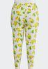 Plus Size Lemon Lime Cropped Leggings alternate view