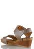 Wide Width Hardware Strap Wedge Sandals alternate view