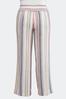Plus Size Multi Stripe Linen Pants alternate view