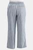 Plus Size Muted Stripe Linen Pants alternate view