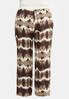Plus Size Crochet Waist Gauze Palazzo Pants alternate view