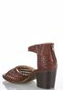 Wide Width Woven Chunky Heeled Sandals alternate view