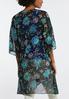 Plus Size Floral Puff Print Kimono alternate view