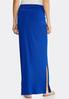 Plus Size Side Slit Maxi Skirt alternate view