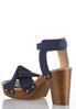 Denim Platform Sandals alternate view