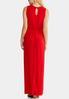 Plus Size Faux Wrap Red Maxi Dress alternate view
